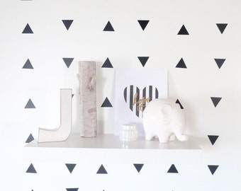 Triangle wall decals – black/gray