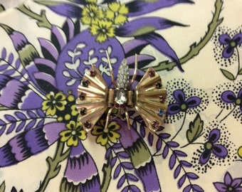 Vintage Rosegold Butterfly Clip