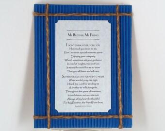 FATHER'S DAY GIFT Inspirational Poem Wall Print Sentimental Keepsake Gift Print For Him Dad Brother Uncle Cousin Husband Blue Mat RosaLinda