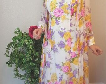 Julie MIller/Vintage/Chiffon dress/ 2 pc outfit/ jacket/Sleeveless/Long/Formal dress/Prom dress/Bridesmaid dress/Size 12