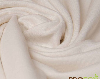 Ready-AbZORB™ ProECO® Organic Cotton French Terry Fabric (Natural, sold by the yard)