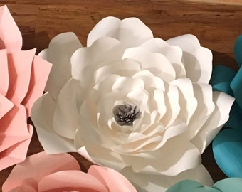 Ruffled Paper Flower Template PDF