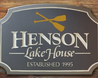 Custom Personal Name Sign Home Decor Housewares Custom Outdoor Sign Custom  Custom Lake House Sign Welcome