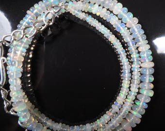 """37 Cts 1 Strands 2.5 to 4.75 mm 16"""" Beads necklace Ethiopian Opal (A29)"""
