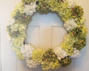 Spring wreath/ summer wreath/ holiday wreath/ housewarming wreath/ top selling wreath/ door wreath/ front door wreath/ hydrangea wreath