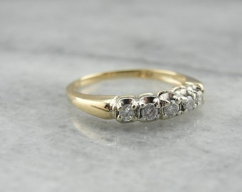 Vintage Two Tone Gold and Diamond Wedding Band Z9672F-R