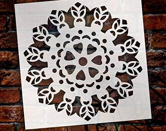 Mandala - Tiki - Complete Stencil by StudioR12   Reusable Mylar Template   Use to Paint Wood Signs - Pallets - Pillows - Wall Art - Floor...