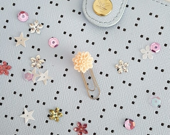 Flower Decorative Planner Clip, Bookmark or Page Marker – Blush