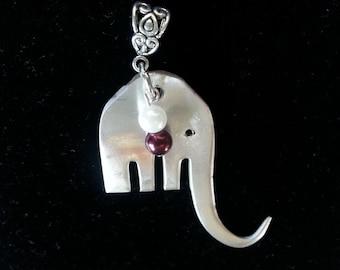 Roll Tide jewelry, Crimson Tide Elephant necklace, Alabama football, free shipping