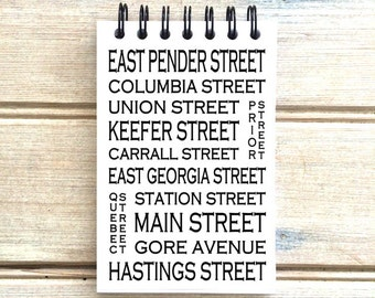 Chinatown Vancouver B.C. - Love This Place - Street Name Notebook - Busroll Notepad Journal Custom Gift B.C. - Canada