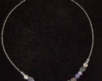Gemstone Necklace ~ Tanzanite & Iolite ~ Adjustable Length