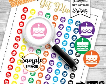 Birthday Planner Stickers, Printable Stickers, Birthday Stickers, Functional Stickers, Stickers For Planners