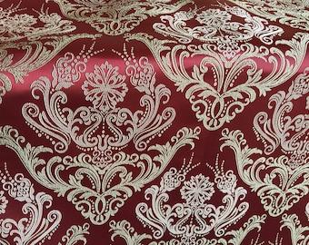 Jacquard Royal 100 x 140 cm red/nude furnishing fabric