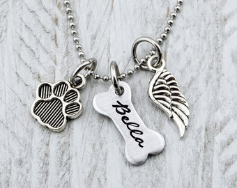 Dog Memorial Jewelry - Pet Loss Gifts - Dog Memorial Necklace - Pet Memorial Jewelry - Pet Memorial Gift - Pet Loss Necklace - Loss of Dog