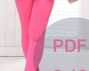Legging Sewing Pattern; Instant PDF ,kids pants ; tights; simple sewing pattern, knits sewing pattern, stretch fabric, PDF Sewing Patterns