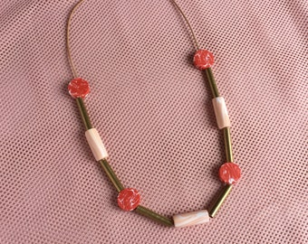 Dot Dash Marbled Necklace