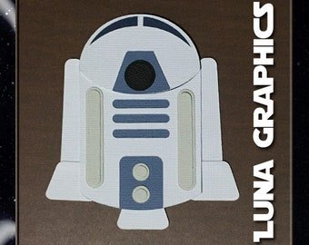 R2D2 Embellishments Paper Piecing card making and scrapbooking