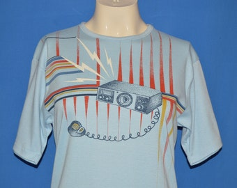 70s CB Radio Geometric Women's Cut t-shirt Medium