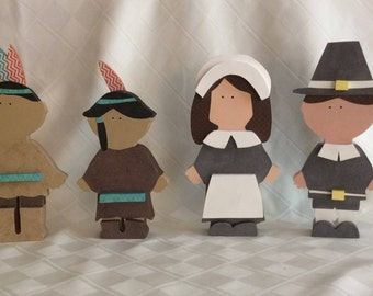Thanksgiving decorations, Thanksgiving, Pilgrims, Indians,