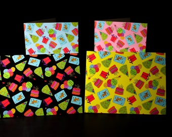"""4 Pack of 5.5""""x4"""" Glossy Birthday Greeting Cards"""