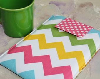 "Macbook Sleeve, 15"" macbook case 15 inch macbook Sleeve in Colorful Chevron"