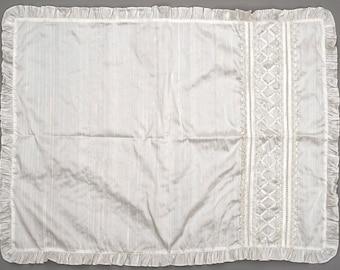 Christening Blanket B001   Baptism Blanket White or Ivory   Handmade 100% Silk