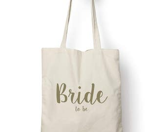 Bride To Be Cotton Tote Bag