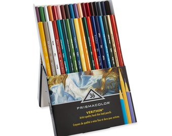 36 Prismacolor Verithin Colored Pencils - Premier | Thin Tip, Point, Prismacolor Pencils, Drawing and Coloring Pencil, Gifts for Artists