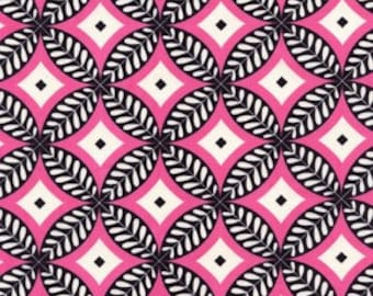 Tea Garden Circles Black - DF78  100% Quilters Cotton Available in Fat Quarter, Half Yard, Yard