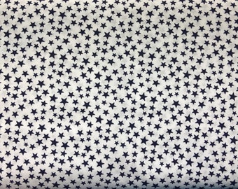 Blue and white star fabric by the yard - patriotic fabric - stars fabric - military fabric - 4th of July fabric - Independence Day #16484