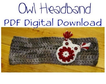 Owl Headband - Pattern Only
