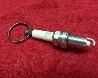 Spark plug key chain
