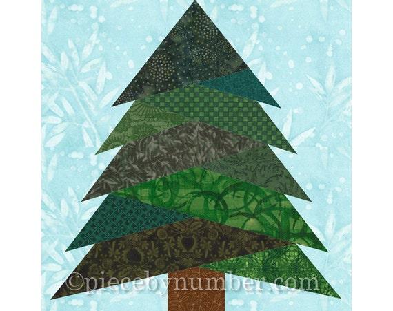 Pine Tree Quilt Block Pattern Paper Piecing Quilt Pattern