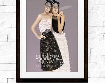 Fashion illustration - Art print - Giambattista Valli - Unapologetically Feminine
