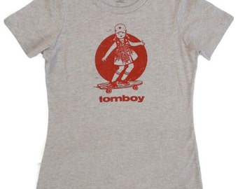 Vintage skateboard shirt womens graphic tee skateboard t shirt tomboy skateboarder gift