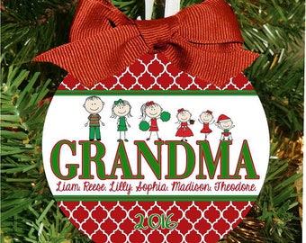 Quatrafoil Christmas Ornament, Grandparents Ornament, Grandma Christmas, Personalized Ornament, Holiday Ornament, Christmas Gift, Family