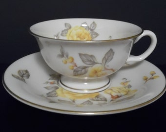 Castleton China MAYFAIR Cup & Saucer Set ~ 1950s ~ Fantastic Condition