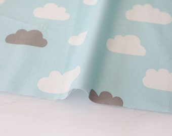 Twill Cotton Fabric Clouds Sky By The Yard