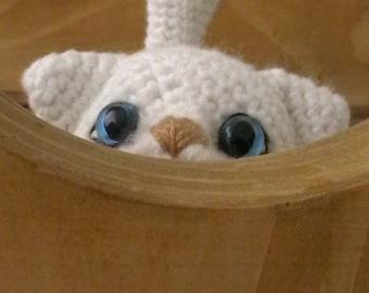 Crochet White Kitty