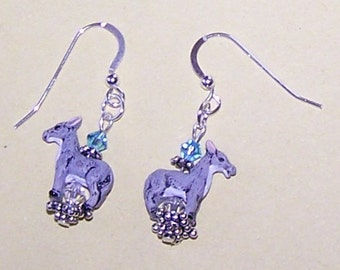 DONKEY Earrings - Sterling Silver French Earwires - Whoa Team