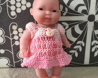 """Pink dress for a 5"""" doll"""