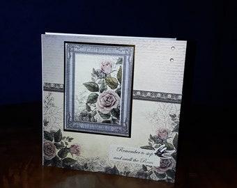 Framed floral greeting card