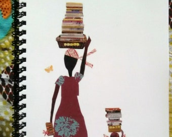 Knowledge Bringers Blank Journals  African American Art Collage