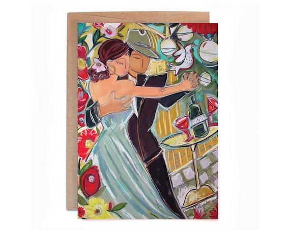 Anniversary / Wedding / Romance  5 x 7 greeting card.
