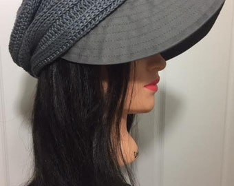Handmade casquette/ Handmade cap/ Handmade hat/ Summer hat/ Breathable hat/ Glay