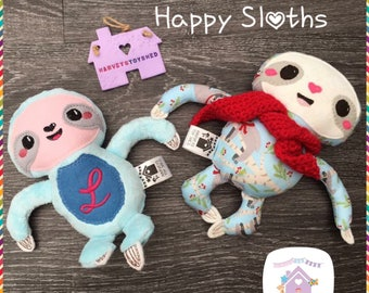 Happy Sloth - Handmade To Order Sloth Softie