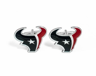 Houston Texans Cuff Links -- FREE SHIPPING with USPS First Class Domestic Mail