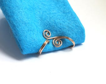 Spiral Ear Cuff, gold or silver ear wrap