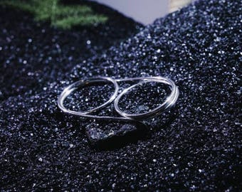 Twist ring / handmade ecosilver / bague fait main en argent recyclé