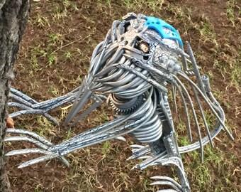 Unique metal robot sculpture Hound of Predator